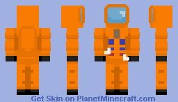 Among Us - Orange Astronaut Minecraft Skin