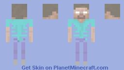 Herobrine's Skeleton Minecraft Skin