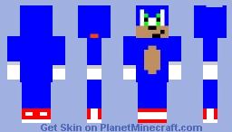 Sonic movie 2020 Minecraft Skin