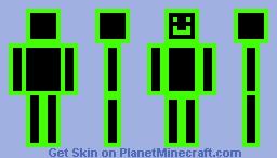 Green glow man 2 new Minecraft Skin