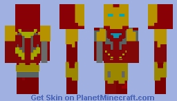 Iron Man Mark 85 with a Arm Pulse Cannon and Arm Blade Minecraft Skin