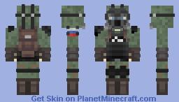 Chernobyl Radiation Suit Minecraft Skin