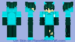 Aesthetic Blue Boy Minecraft Skin