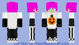 Spooky sap-nap with pink hair Minecraft Skin
