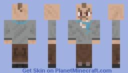 Mean Street Gangster Thug with Blue Bandana Around Neck Minecraft Skin