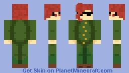 """Take this, Dio! Twenty meter radius Emerald Splash!"" Minecraft Skin"