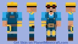 Team Fortress 2 (2007) - Engineer (BLU) Minecraft Skin