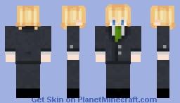 tubbo green tie for stream AAAA Minecraft Skin