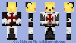 Crusader pikachu Minecraft Skin