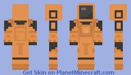 Among Us - Orange Minecraft Skin