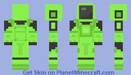 Among Us - Lime Minecraft Skin