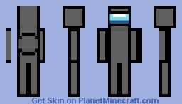 Black crewmate Minecraft Skin