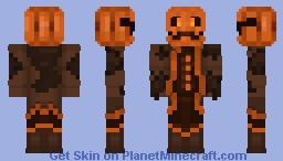 Mustached Pumpkin Butler Minecraft Skin