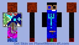 Trident Blue boy Minecraft Skin