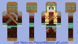 Female miner Minecraft Skin