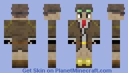 Indiana Jones is Steampunk Minecraft Skin