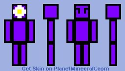Stick Figure Purple Girl Minecraft Skin