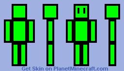 Stick Figure Green Boy Minecraft Skin