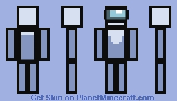 Among Us White Player Minecraft Skin