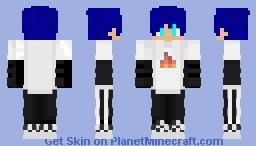 Blue hair SapNap Minecraft Skin