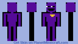 the man behind the slaughter (purple guy) Minecraft Skin