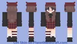 aster red Minecraft Skin