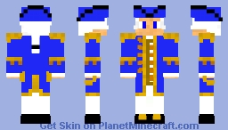 Schwedischer Flotten Admiral der Wasa Minecraft Skin