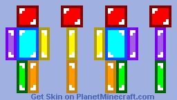 Rainbow Skeppy Minecraft Skin