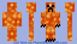 Lava Creeper Minecraft Skin