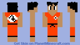 Teen Goku (no weights) Minecraft Skin