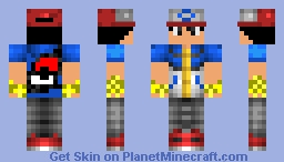 Pokemon Trainer Minecraft Skin