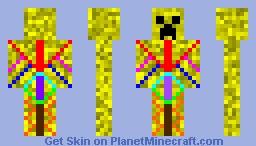 Sunshine Creeper Minecraft Skin