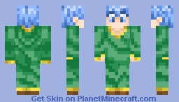 [Fixed] Blue-Haired Magician (Wisp) Minecraft Skin
