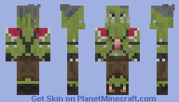 Orc Experienced Footman Grunt Minecraft Skin