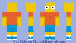 Bart form the Xbox 360 Simspons pack Minecraft Skin