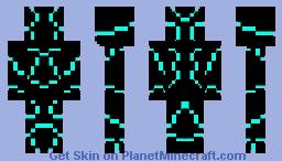 cyan armor Minecraft Skin