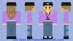 indie girl purple Minecraft Skin