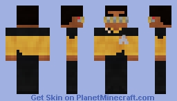 Chief Engineer Geordi La Forge | Star Trek | TNG | S3 Minecraft Skin