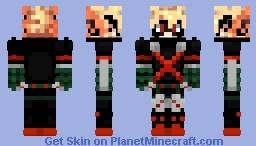 Katsuki Bakugo (winter costume) Minecraft Skin