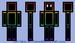 Chroma box guy Minecraft Skin