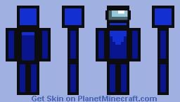 Among Us Blue Player Minecraft Skin