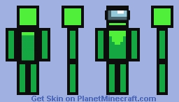 Among Us Lime Player Minecraft Skin