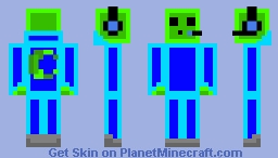 neon slime Minecraft Skin