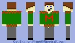 Miles4Daze christmas sweater Minecraft Skin
