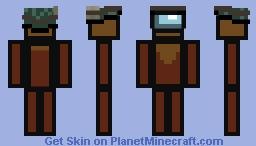 Among Us Player NavyAgent7 Minecraft Skin