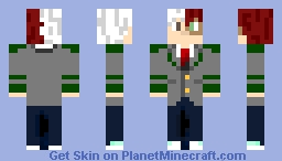 Shoto Todoroki (from 'My Hero Academia' anime) Minecraft Skin