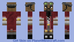 Steampunk Eastern Airship Traveler Minecraft Skin