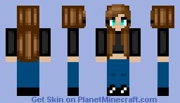 Crop top girl Minecraft Skin