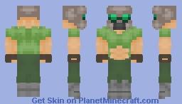 DoomGuy Minecraft Skin