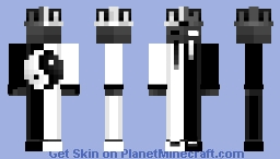 Ying and Yang crown skin Minecraft Skin